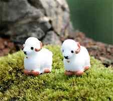 2PCS Micro Baby Sheep Miniature Landscape Bonsai Plant Fairy Garden Lawn Decor