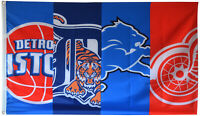 Detroit Lions Red Wings Tigers Pistons Flag 3x5 ft Sports Banner US Seller