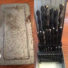 VINTAGE ~ DRILL INDEX  1-13  In Case- Unmarked (23 bits remain)