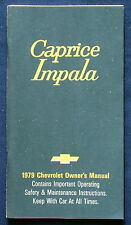 Owner's Manual * Betriebsanleitung 1979 Chevrolet Chevy Caprice  Impala (USA)