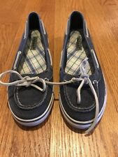 8f7b8f671ae SPERRY TOP SIDER Denim Deck PENNY LOAFERS LEATHER Boat Shoes Womens Size  8.5