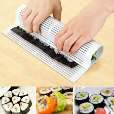 Non-Stick Sushi Maker Kit Rice Roll Plastic Mold DIY Mould Roller Mat Paddle AU
