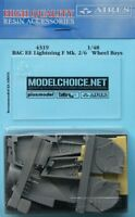 Aires 1/48 BAC EE Lightning F Mk.2/6 Wheel Bays for Airfix kit # 4319