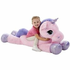 "Animal Alley 45"" Pink Giant Huggable Unicorn Soft Stuffed Toy Gift for Children"