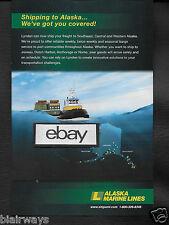 ALASKA MARINE LINES LYNDEN CARGO JUNEAU-DUTCH HARBOR NOME 2016 TUG & BARGE AD