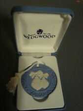"Wedgwood Blue Jasperware Cameo Christmas Ornament 1999 ""Baubles"" Mib"