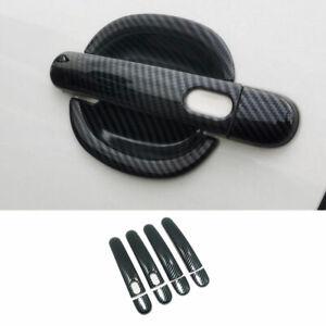 For Volkswagen Jetta 2012-2018 Carbon Fiber Side Smart Door Handle Cover Trim
