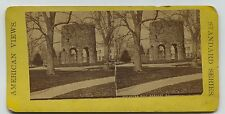 Stereoview Card Newport Rhode Island Old Stone Mill