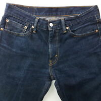 Levi's 511 Mens Jeans W32 L28 Dark Blue Slim Fit Straight Mid Rise