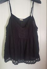 Strappy black hollister top size L