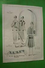 1925 Original Art Déco Annonce Impression Vêtements Alain Mode Jean Patou