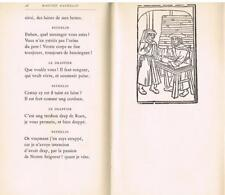 MAISTRE PIERRE PATHELIN Farce Tallone sagonne 1943 6 figures vélin Typographie