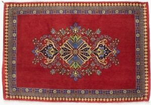 Handmade Floral Classic Design Red Small 2X3 Vintage Oriental Rug Home Carpet