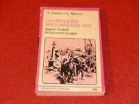 [Bretaña Siglo Xvii Histoire Social ] Garlan / Las Revueltas De 1675 Copas Rojo