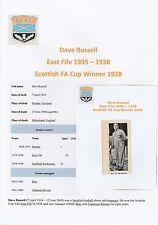 DAVE RUSSELL EAST FIFE 1935-1938 RARE ORIGINAL HAND SIGNED MAGAZINE CUTTING