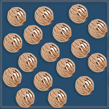 NEW 250 Pure Copper Fluted Beads 6 mm