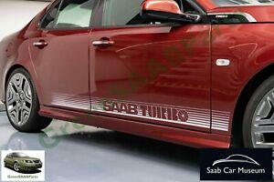 """SAAB TURBO"" Striping Kit, White, As Seen On NEVS 9-3 ""RetroTurbo"" Concept Car."