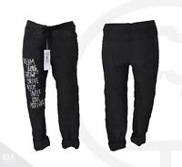 H005 Made in Italy Hose JogPants Baggy Freizeithose Typography Muster Uni.34-40