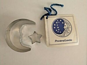 Vintage PROCTER & GAMBLE Moon and Star Cookie Cutters w/Recipe Card
