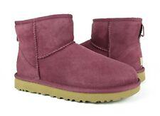 UGG Australia Classic Mini II Bougainvillea Suede Fur Boots Womens Size 9 ~NIB~