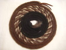 "Mane Horse Hair Mecate 22 ft long  1/2"" dia.  Pattern V4 -- Changing Colors"