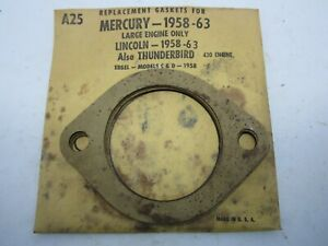 58-63 Mercury Lincoln Thunderbird Big Block Water Outlet Gaskets (4) STANT A25