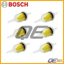 NEW Set of 6 Bosch Fuel Filters 6/8mm Barb BMW E10 1602 356 356A Porsche VW