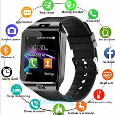 2020 Waterproof Bluetooth Smart Watch W/Cam Phone Mate For iphone IOS Android LG