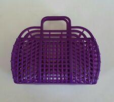 "NEW Vintage Retro LILAC 9"" (1980's) JELLY Plastic Purse/Handbag (Made in USA)"