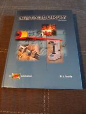 Metallurgy by Moniz, B. J. , Hardcover