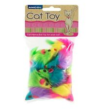 Ancol Cat Kitten Toy Rainbow Mouse Selection Pack Interactive Toy Game Play 6pcs