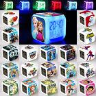 7 Color Changing Glowing LED Flash Digital Alarm Clock Kid Cartoon Movie Figures