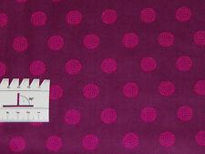15,27€/m² - 25cmx110cm SPHERE Kugeln Pink Bordeaux - Patchworkstoff Alison Glass