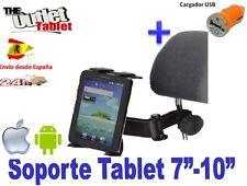 "SOPORTE REPOSACABEZAS UNIVERSAL PARA Tablet 7"" 8"" 9"" 9.7"" 10"" + CARGADOR USB"