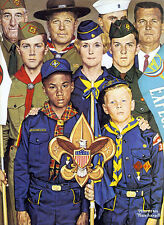 America's Boypower 22x30 Boy Scout Art by Norman Rockwell Hand Numbered