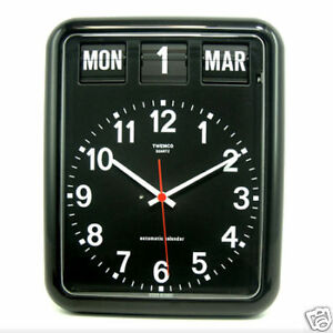 Modern Large Twemco Clock with Perpetual Calender | Options: White / Black
