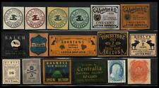 """1867-1949 United States """"Local Post"""" (17) Multi-Colored Local Phantoms Issues"""