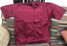 Light Maroon Men's Silk Short Sleeve Shirt, XL, BNWOT, Thai Silk, Fine Weave