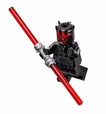 LEGO STAR WARS DARTH MAUL MINIFIGURE w/ Duel Lightsaber AUTHENTIC NEW 75169