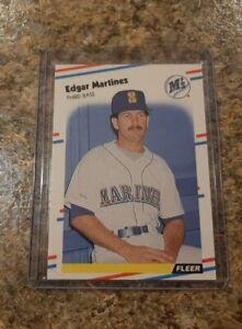 Edgar Martinez 1988 Fleer Glossy Rookie Card #378 RC Mariners Gradeable Mint HOF