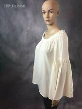 ANN TAYLOR LOFT BELL SLEEVE OFF THE SHOULDER TOP SIZE LARGE (B23)