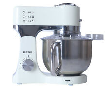 BERG 1200W 5L Electric Food Stand Mixer in Cream, Slow Juicer, Grinder, RRP £429