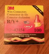 3M Wire Connectors R/Y+ - 054007-43154 - (Lot of 100) New Free Shipping ! ! !