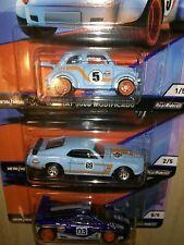 Hot Wheels Premium Gulf '60s FIAT 500D, '69 Mustang Boss 302, McLaren F1 (Lot 3)