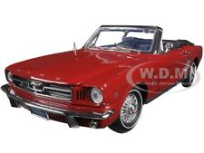 "1964 1/2 FORD MUSTANG CONVERTIBLE RED ""TIMELESS CLASSICS"" 1:18 BY MOTORMAX 73145"