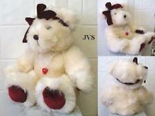 Sweetheart Dakin Bear w/ Velvet paws & bow & Necklace