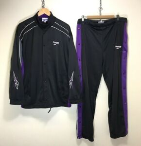 REEBOK POPPER VINTAGE 90s CASUALS FULL TRACK JACKET PANTS & TRACKSUIT RARE L/XL