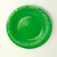 25 Paper  Plates - Green  - 18cm  7ins    Arts and Crafts  Party Kids Children