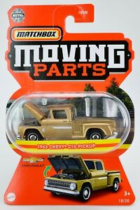 2021 Matchbox Moving Parts #18 1963 Chevy® C10 Pickup MEDIUM GOLD / MOC