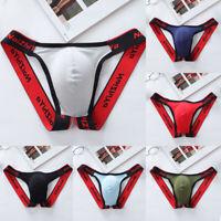 Men's Sexy Underwear Thin Soft Cotton Jockstrap Briefs Low Waist Seamless Shorts